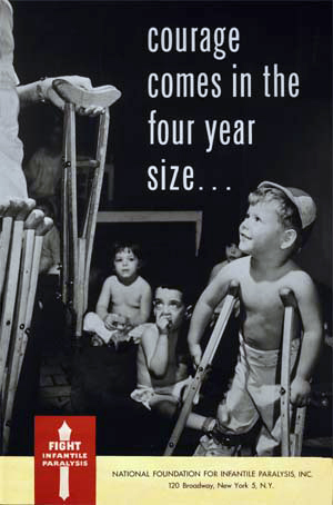 Polio Poster. National Foundation for Infantile Paralysis. 1950