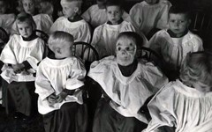 choir children wearing mask